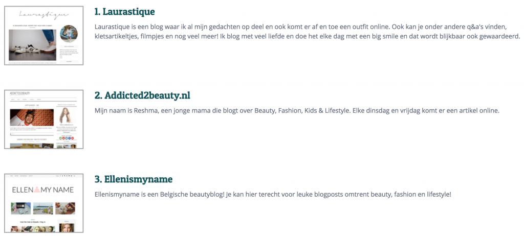 Beste blogs benelux