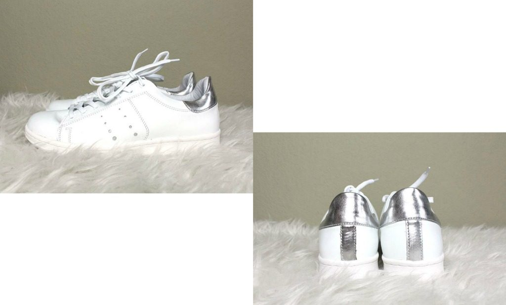 Basic outfit met witte sneakers