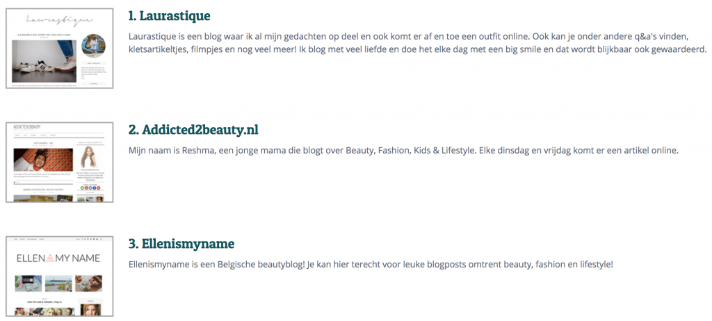 Beste blogs benelux