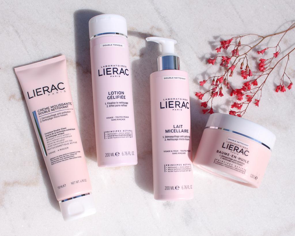 Dubbele reiniging van de huid met Lierac