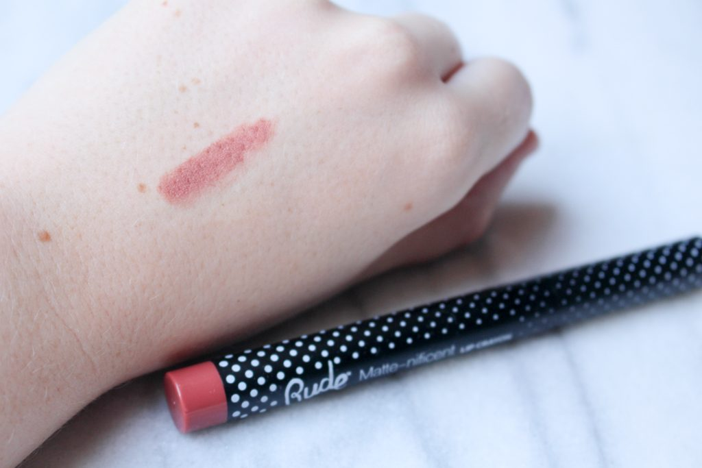 Rude Matte-nificent Lip Crayon Exposed