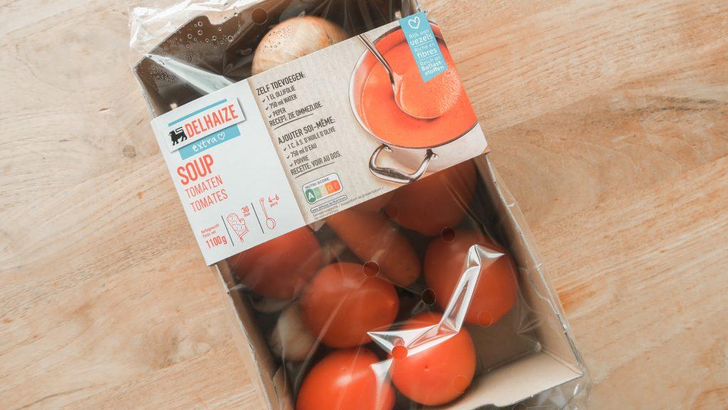 Delhaize soeppakket tomatensoep